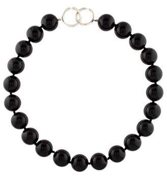 Tiffany & Co. Onyx Bead Strand Necklace silver Onyx Bead Strand Necklace