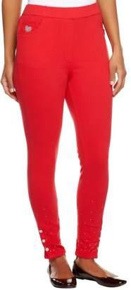 Factory Quacker Short Slim Leg DreamJeannes Leggings with Sparkle
