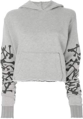 Amiri Bones Star cropped hoodie