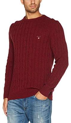 Gant Men's Neps Lambswool Cable Crew Sweater Jumper,X