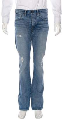 Simon Miller Distressed Straight-Leg Jeans