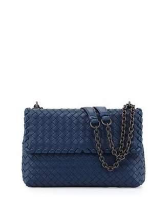 Bottega Veneta Olimpia Medium Intrecciato Shoulder Bag, Cobalt Blue $2,550 thestylecure.com