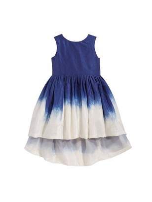 Oscar de la Renta Dip-Dyed Silk-Taffeta Dress