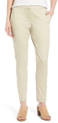 Women's Eileen Fisher Organic Cotton & Tencel Twill Pants $178 thestylecure.com