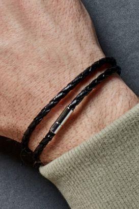 Black Double Wrap Bracelet