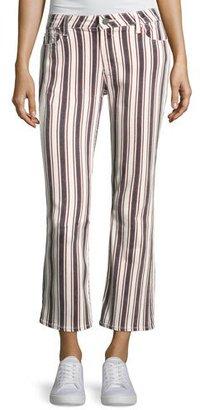 PAIGE Jocelyn Striped Straight-Leg Jeans, Multi Pattern $225 thestylecure.com
