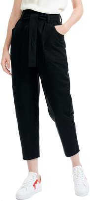 Maje Belted Crop Trousers