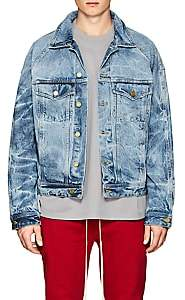 Fear Of God Men's Acid-Washed Denim Jacket-Lt. Blue