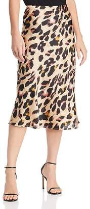 Cotton Candy Leopard Print Midi Skirt