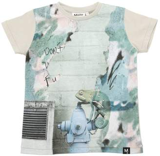 Molo Chameleon Printed Cotton Jersey T-Shirt