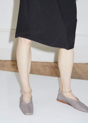 Jil Sander Braided Trim Flats with Removable Anklet