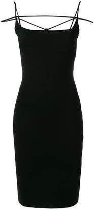 DSQUARED2 strappy fitted dress