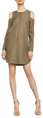 BCBGMAXAZRIA Cold-Shoulder Shirt Dress