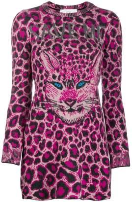 Alberta Ferretti cat face sweater dress