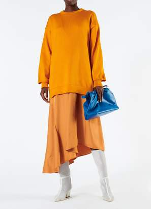 Tibi Corded Poly Oversized Tunic Sweater