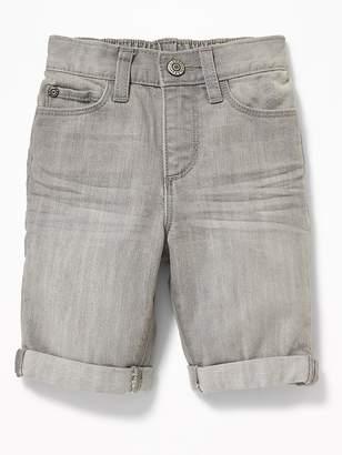 Old Navy Skinny Gray Denim Messenger Shorts for Toddler Boys