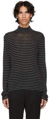 John Lawrence Sullivan Johnlawrencesullivan Black and Grey Wool Mock Neck Sweater