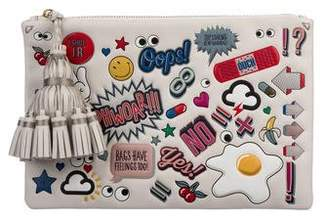 Anya Hindmarch All Over Stickers Leather Pouch