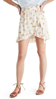 Women's Madewell Meadow Silk Wrap Miniskirt $68 thestylecure.com