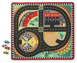 Melissa & Doug Round the Speedway Race Track Area Rug
