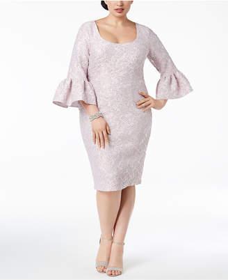 Betsy & Adam Plus Size Jacquard Sheath Dress