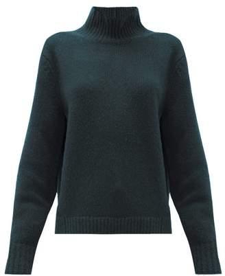Acne Studios Kastrid Wool Blend Sweater - Womens - Dark Green