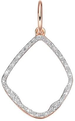 Monica Vinader 'Riva' Diamond Hoop Pendant