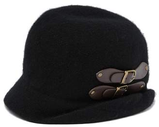 Cloche August Hat Buckle Up Asymmetrical Hat