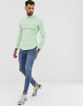 f981aee38cce Polo Ralph Lauren slim fit oxford shirt with button down collar in light  green