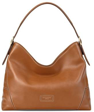 Aspinal of London Small A Hobo In Smooth Tan