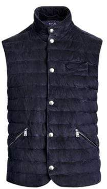 Polo Ralph Lauren Tissue Suede Quilted Vest