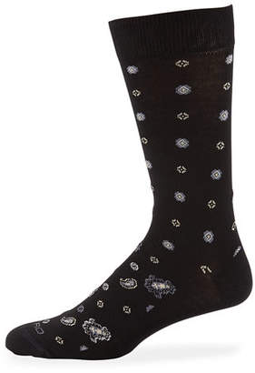 Etro Men's Geometric Paisley Socks