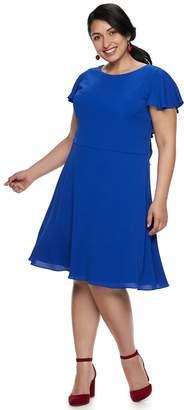 Plus Size Suite 7 Ruffle Jacquard Dress