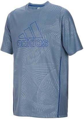 adidas Logo-Print Embossed Printed T-Shirt, Little Boys