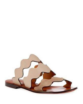 Chloé Flat Wave Mixed Slide Sandal
