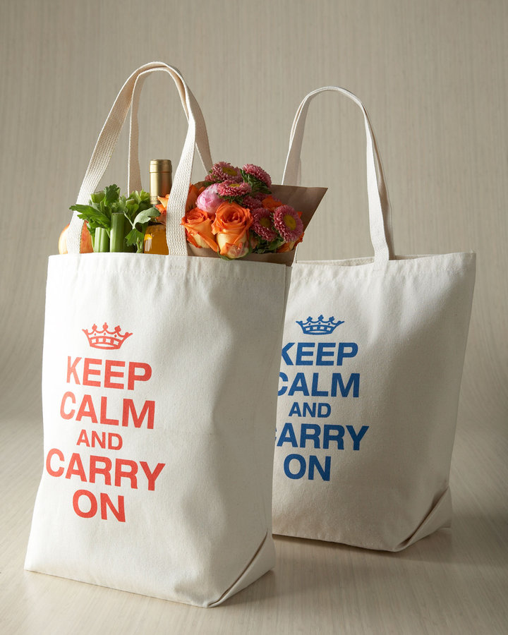 "Horchow ""Keep Calm & Carry On"" Tote"