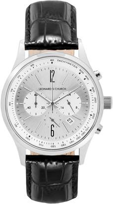 Church's Leonard & Barclay Chronograph Leather Strap Watch, 43mm