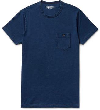 Todd Snyder Slim-fit Indigo-dyed Slub Cotton-jersey T-shirt