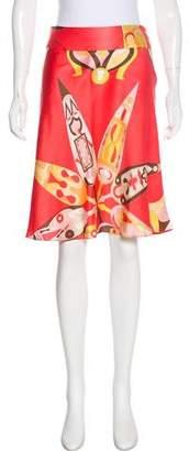 Emilio Pucci Silk Printed Skirt