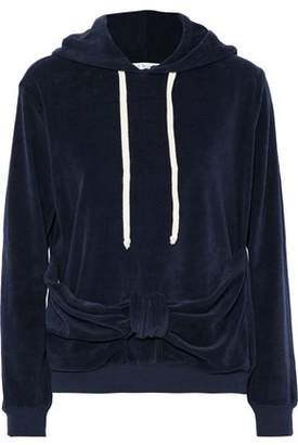 Clu Knotted Cotton-Blend Terry Hooded Sweatshirt