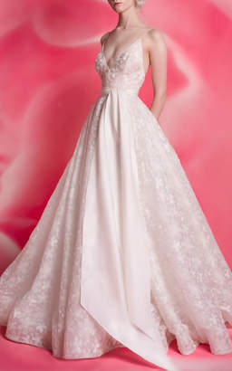 Isa Belle Isabelle Armstrong Taylor Plunge Ballgown