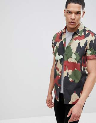 G Star G-Star Utility Camo Short Sleeve Shirt