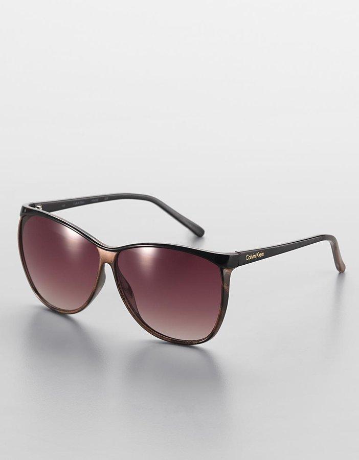 CK CALVIN KLEIN Vintage Cat-Eye Sunglasses