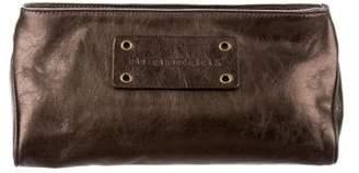 Burberry Metallic Leather Cosmetic Bag
