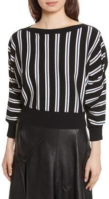 3.1 Phillip Lim Striped 3/4 Sleeve Shirt