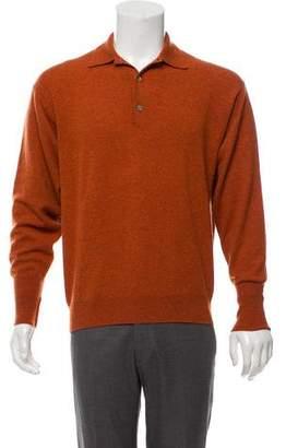 Gucci Cashmere Long Sleeve Polo Shirt