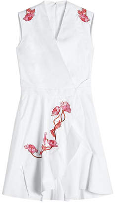 Carven Embroidered Cotton Dress