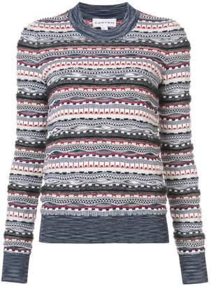 Carven patterned knit jumper