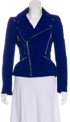 Alexander McQueen Structured Leather Jacket