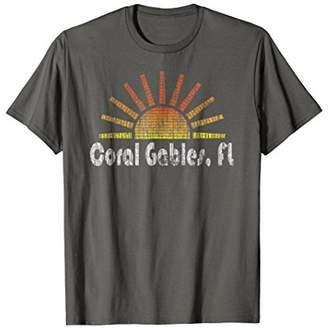 Retro Coral Gables Florida Sunrise Sunset Vintage T-Shirt